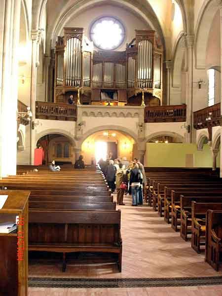 Metz : l\'interieur du temple Neuf (protestant)