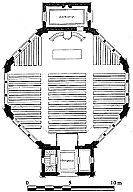 plan du temple de Saint Sulpice de Royan